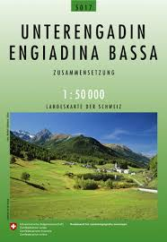 Swiss National Map Engiadina Bassa 1:50'000