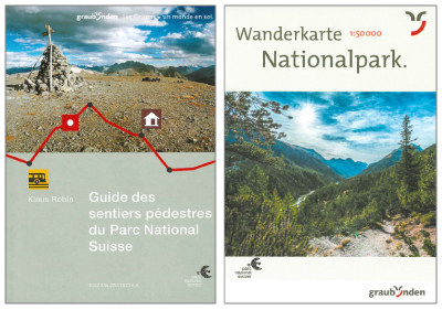 Combiné guide/carte officielle du Parc National Suisse